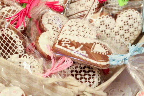 Biscuits en forme de coeur made in Prague